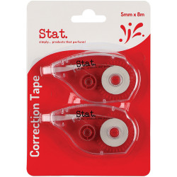 Stat Correction Tape 5mmx8m Pack of 2