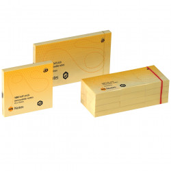 Marbig Repositionable Notes 40x50mm 100 Sheets Yellow Pack Of 12
