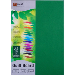 Quill Board A4 210gsm Emerald Pack of 50