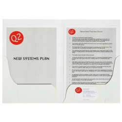 Marbig Professional Series Presentation Folders A4 Double Pocket White Gloss Pack Of 10